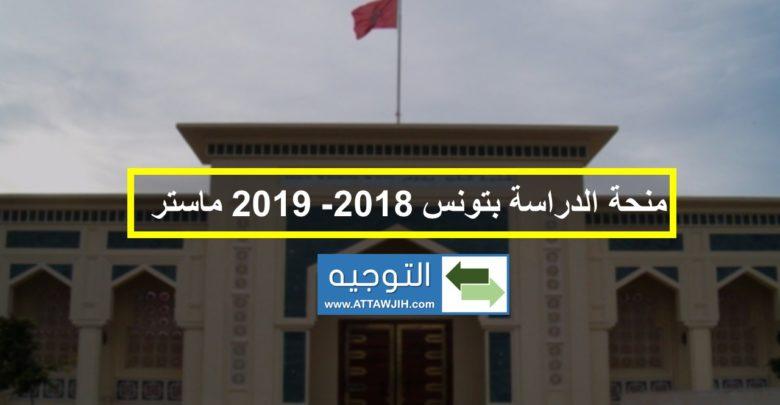 منحة الدراسة بتونس ماستر