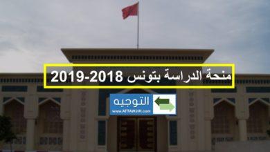 منحة الدراسة بتونس 2018-2019
