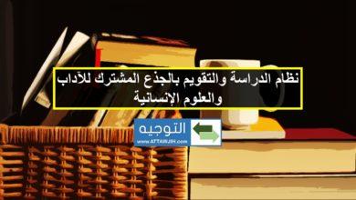 نظام الدراسة والتقويم بالجذع المشترك للآداب والعلوم الإنسانية